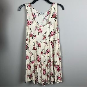American Eagle Outfitters Cream Floral Dress